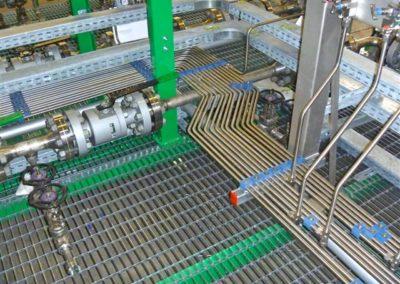 Sistema di tubazioni per skid
